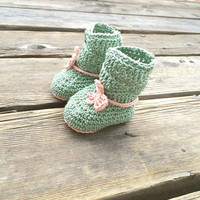Baby Girl Crochet Slipper Booties Baby Girl Crochet Items 0-6 months-6-12 months-12-18 months Cotton Yarn Baby Girl Booties