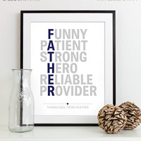 Dad Gift - Personalized gift for Dad - Wedding Gift for Parents - Father's Day Gift - Birthday Gift for Dad - Father of the Bride Gift