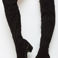 Off The Block Thigh High Suede Boots | LASULA