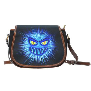 Blue Monster Shoulder Saddle Bag