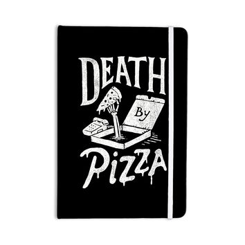 "Tatak Waskitho ""Death By Pizza"" Food Black Everything Notebook"