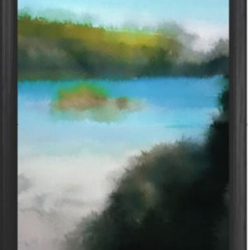 Abstract Summer  impressionist Digital Painting signed art print A2 59 x 42 cm landscape nature