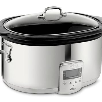 All-Clad Slow Cooker with Black Ceramic Insert, 6 1/2 Qt.
