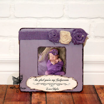 Godparents Gift Godmother Gift Personalized Picture Frame Baptism Gift for Godparents Gift Christening Gift Godparents Personalized Frame