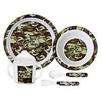 Bass Pro Shops 5-Piece Dining Set for Kids - Green Camo