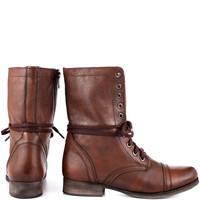 Steve Madden - Troopa - Brown Leather