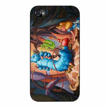 Alice In Wonderland Hookah Caterpillar 523 iPhone 4/4s Case
