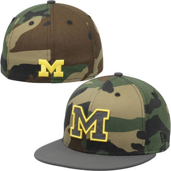 Michigan Wolverines New Era Camoflect 59FIFTY Fitted Hat – Camo df3e249f2e1
