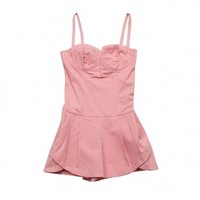 baby phat Clothes Pink Bustier Pleated Romper - StyleCaster