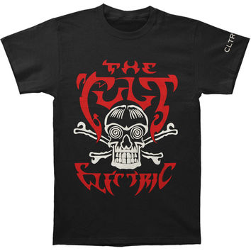Cult Men's  Skull And Crossbones T-shirt Black Rockabilia