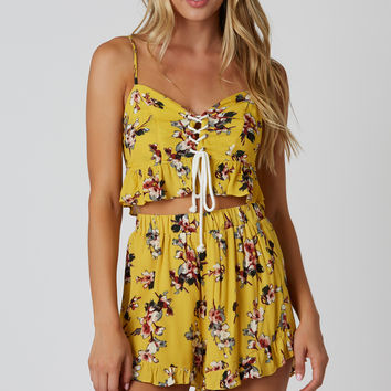 Here And Gone Floral Crop Top