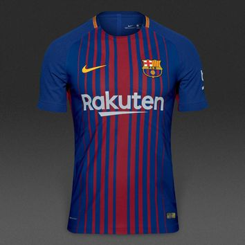KUYOU Barcelona 2017/18 Home Match Men Soccer Jersey Personalized Name and Number