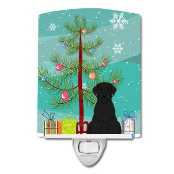 Merry Christmas Tree Giant Schnauzer Ceramic Night Light BB4191CNL