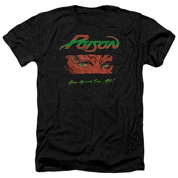 Poison Heather T-Shirt Open Up and Say Ahh Black Tee