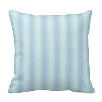 Pastel Stripes And Speckled Print Throw Pillow