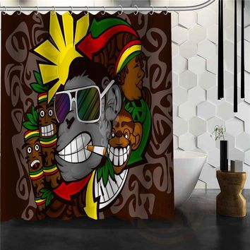 BOB MARLEY Shower Curtain Personalized Custom Bath curtain Waterproof polyester curtain for family