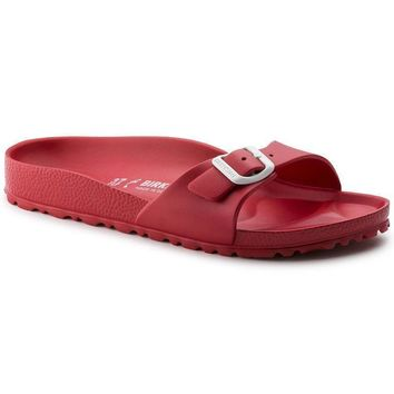 Sale Birkenstock Madrid Essentials Eva Red 128193 Sandals
