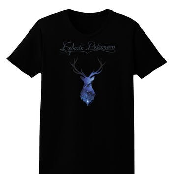 Expecto Patronum Space Stag Womens Dark T-Shirt