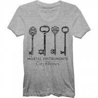 Mortal Instruments Keys Juniors Gray T-shirt S