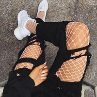 Fashionable Fishnet Tights S