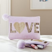 Velvet Inspiration Pouches, Love
