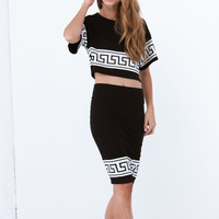 Geo Jane Pencil Skirt