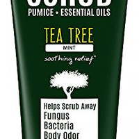 Tea Tree Oil Exfoliating Scrub with Activated Charcoal, Neem Oil & Natural Pumice. Remove Dead Skin & Bacteria that Acne, Foot & Body Odor, Athlete's Foot, & Fungus Love. Rough Dry Skin & Callous