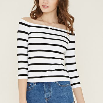 Stripe Off-the-Shoulder Top | Forever 21 - 2000186478