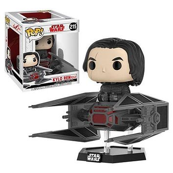 Star Wars The Last Jedi Kylo Ren TIE Fighter Deluxe Pop! Vinyl Bobble Head #215