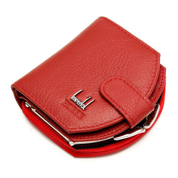 2016 Fashion New Brand Women Coin Purses Genuine Leather Small Wallets Coins Hobos Design sac femme