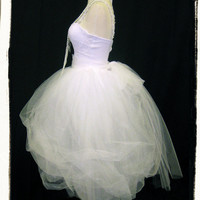 Gorgeous Bachelorette Party Dress // Madonna Like A Virgin Costume Gown Outfit // 80s Prom