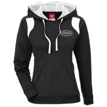 The Ultimate Fan Of The New England Patriots Team 365 Ladies' Colorblock Poly Hoodie