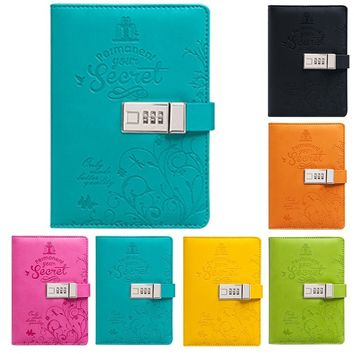Secret Pages Journal Blank Notebook PU Diary Password Paper Book