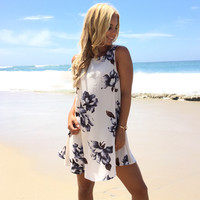 Botanical Floral Shift Dress