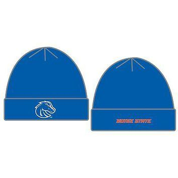 Licensed Boise State Broncos Knit Youth Tow Cuffed Beanie Stocking Stretch Sock Hat Cap KO_19_1