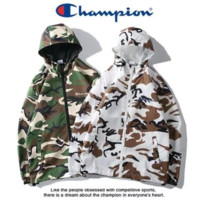 Champion New fashion embroidery letter camouflage couple leisure windbreaker coat