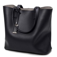Luxury Handbags Women Bags Designer High Quality Leather Women Bag Black Big Solid Women Shoulder Bags Large Capacity Tote Bag