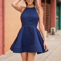 Dancing Queen Dress, Navy