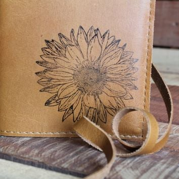 The InBlue Leather Journal Sunflower