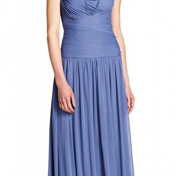 Adrianna Papell - 08G905590 Embellished Ruched Queen Anne Gown