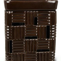 BROWN CHECK FRAGRANCE WARMER - WAX MELTER by Boulevard