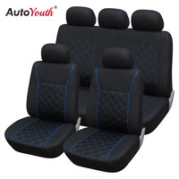 AUTOYOUTH Blue Line Car Seat Cover Universal Fit Most Car Covers Interior Accessories Black Seat Covers Car Seat Protector