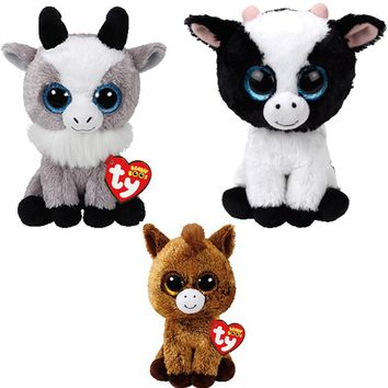 """Ty Beanie Boos  6""""  Stuffed Animal Collectibles with Heart Tag-Adorable!  Top Seller in our Gift Shop!"""