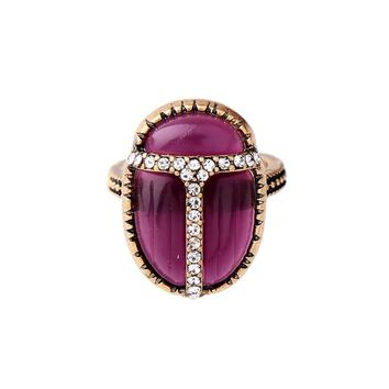 Purple Insect Statement Beetle Ring