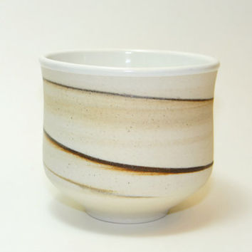 White Porcelain tea bowl, chawan, yunomi with rusty brown clay - Naked earth series, agate tea bowl,  decorative bowl, father's day gift