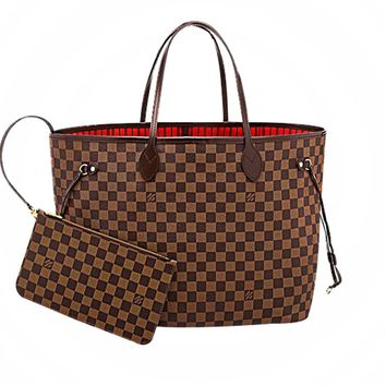 Free Shipping-LV Classic Old Flower Women's Shoulder Bag Two-Piece Set