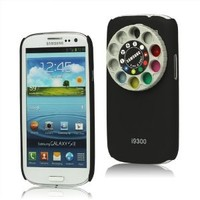 4C Funny Lens Filter Turret Kit Hard Case for Samsung Galaxy S3 I9300 - Black