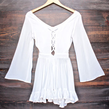 Lioness by the sea gypsy romper in white