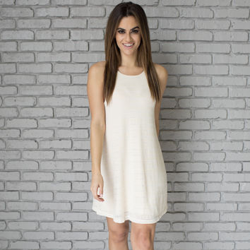 Soft As Snow Ivory Knit Dress