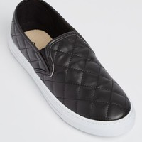 Black Quilted Skate Shoes
